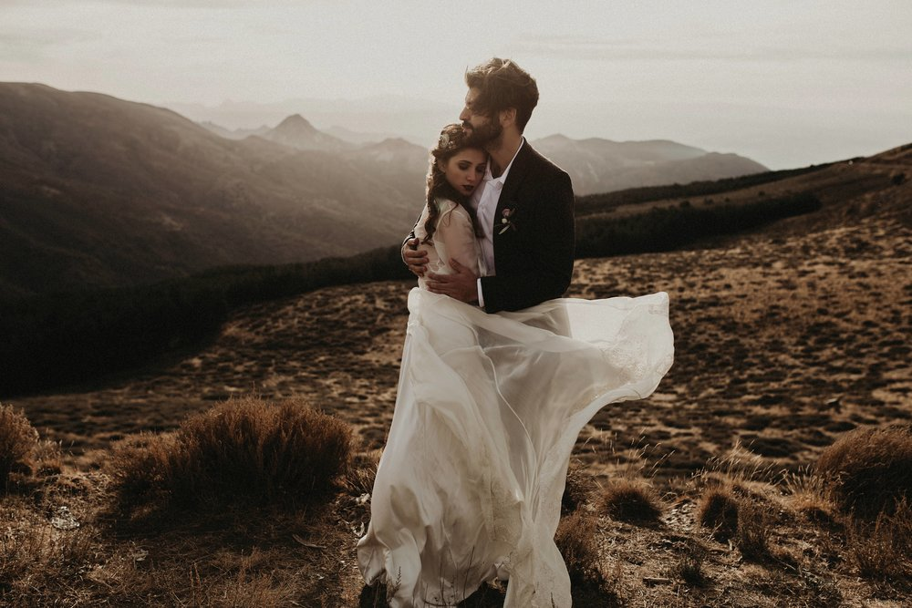 folk bohemian wedding in spain