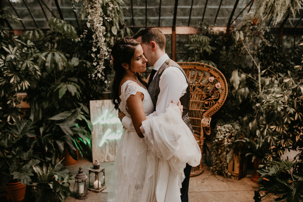 Botanical tropical wedding