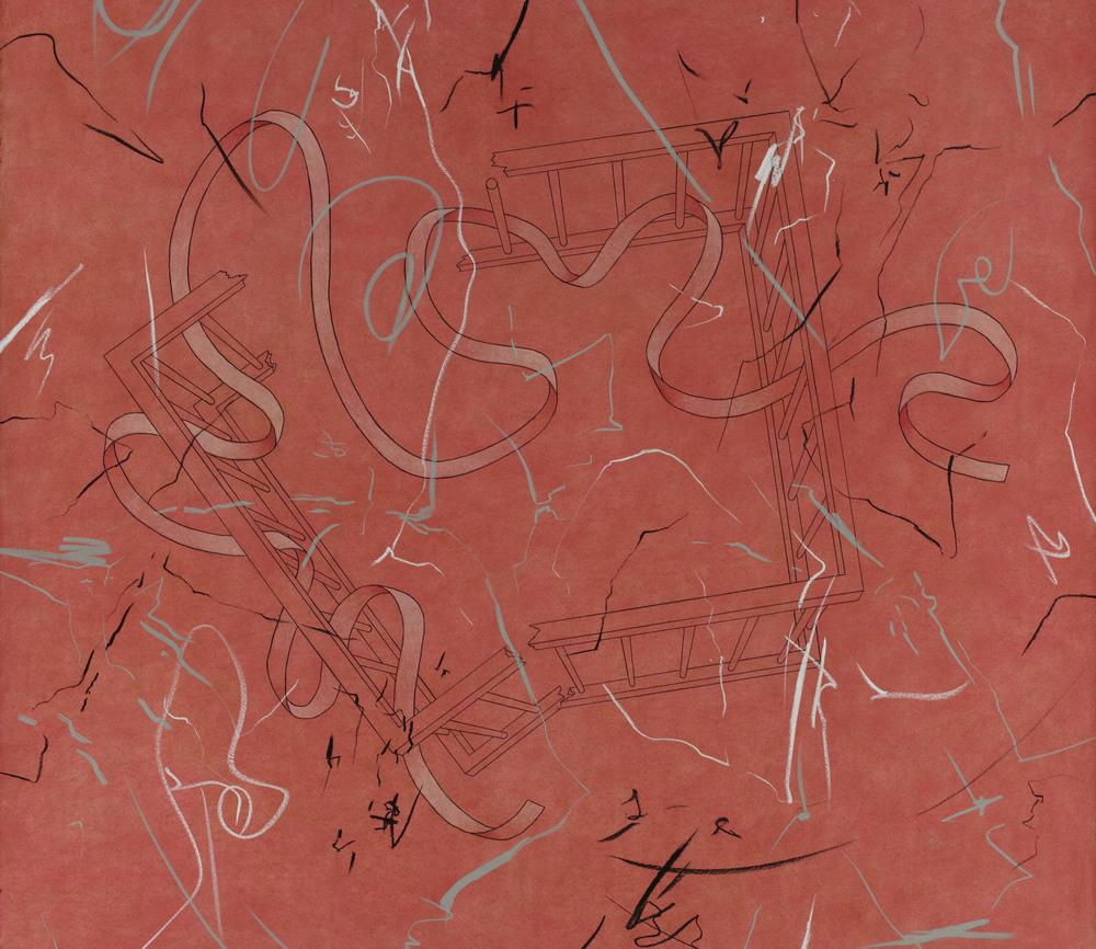 "Youth (2004)  pastel, graphite, acrylic  43"" H x 50"" W"