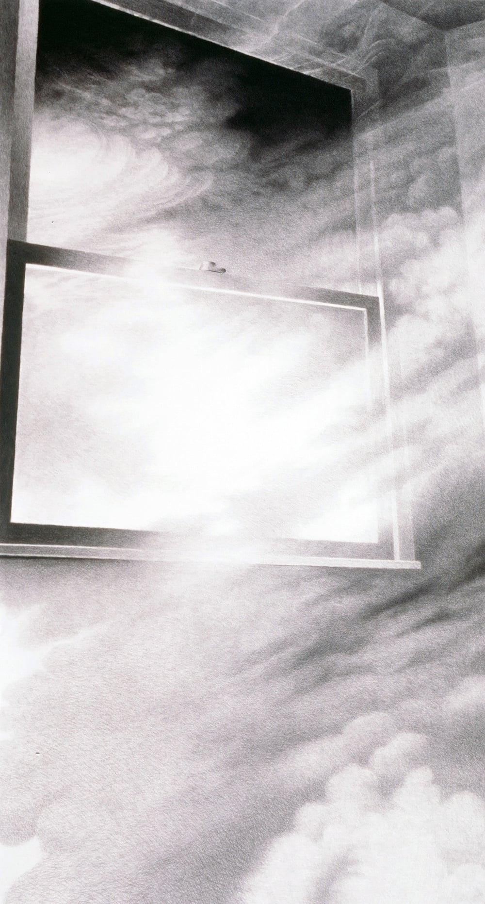 "Sleep: Transcendence (1995)  charcoal  70"" H x 38"" W"