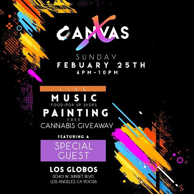 Canvas X is back, new and improved! We created with #WyclefJean last event and have very special guest this time. Purchase your presale tickets now to be automatically entered into our raffle to win a #CanvasCannabis package!💨🍃 link in bio! @canvas.x