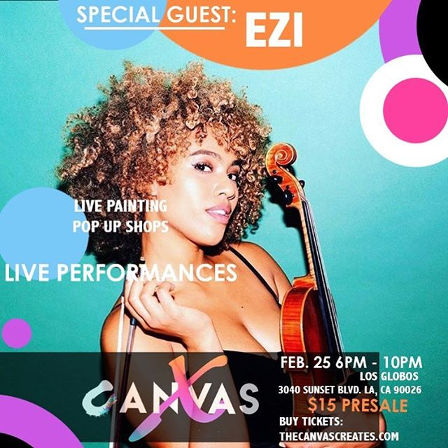 #ClassicalBae will be performing live!! Free entry into the #CanvasCannabis giveaway with presale purchase!! Link in bio #TheCanvas #CanvasX @iamezinma @canvas.x