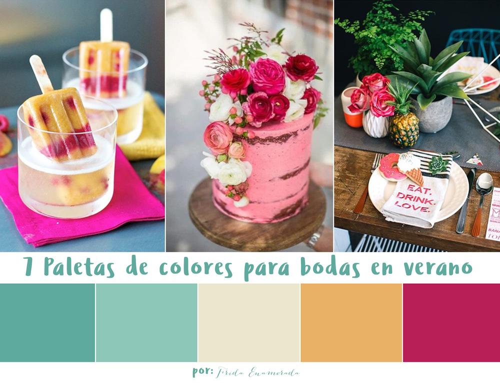 7 paletas de colores para bodas en verano Frida Enamorada