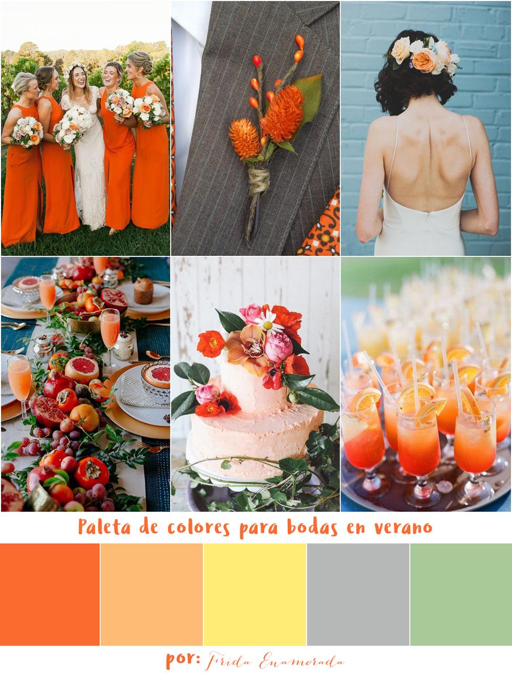 7 Paletas De Colores Para Bodas En Verano Frida Enamorada - Boda-en-verano