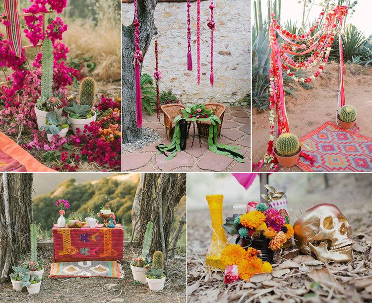 Inspiracin para una boda mexicana al estilo frida enamorada decoracin para mesas altavistaventures Gallery