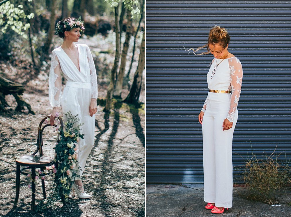 Foto:  D&A Photo  / Jumpsuit:  Sankyuta Shrestha  // Foto:  Through the Woods We Ran  / Jumpsuit:  House of Ollichon .