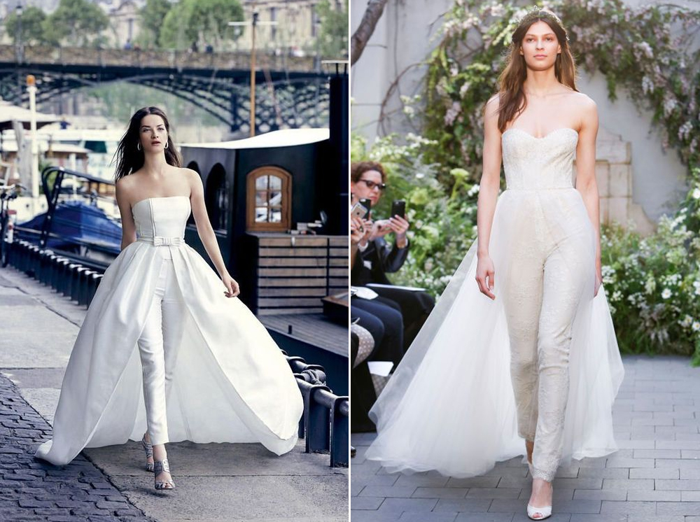 Jumpsuit:  Monique Lhuillier .