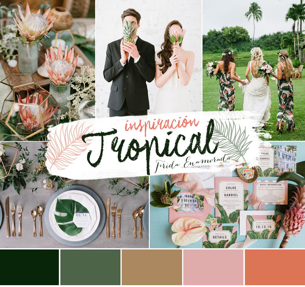 Bodas con inspiración tropical