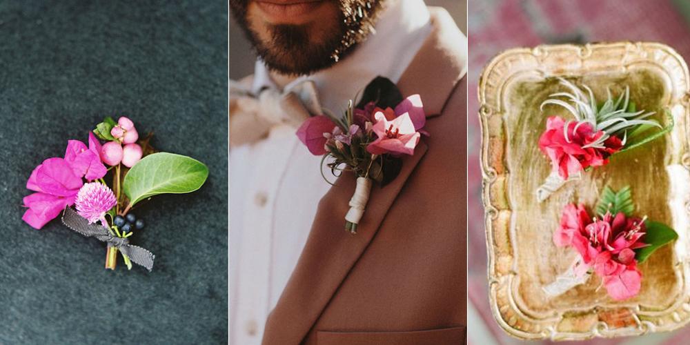 decoración de bodas con bugamibilias