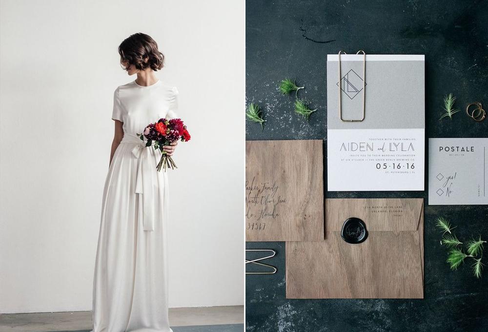 Vestido:  Lilly Ingenhoven . / Foto:  Jordan Weiland . Invitación:  Eleven Note .