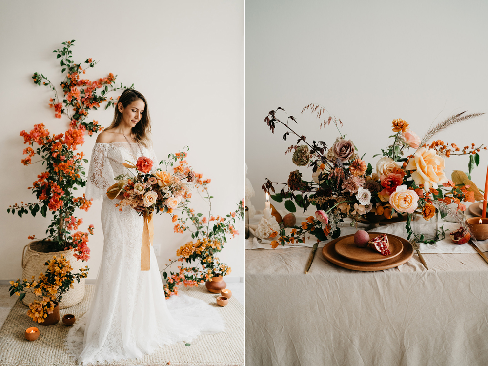 Fotos:  The Times We Have . Diseño Floral:  Floweriize  y  Hunt & Gather Floral .