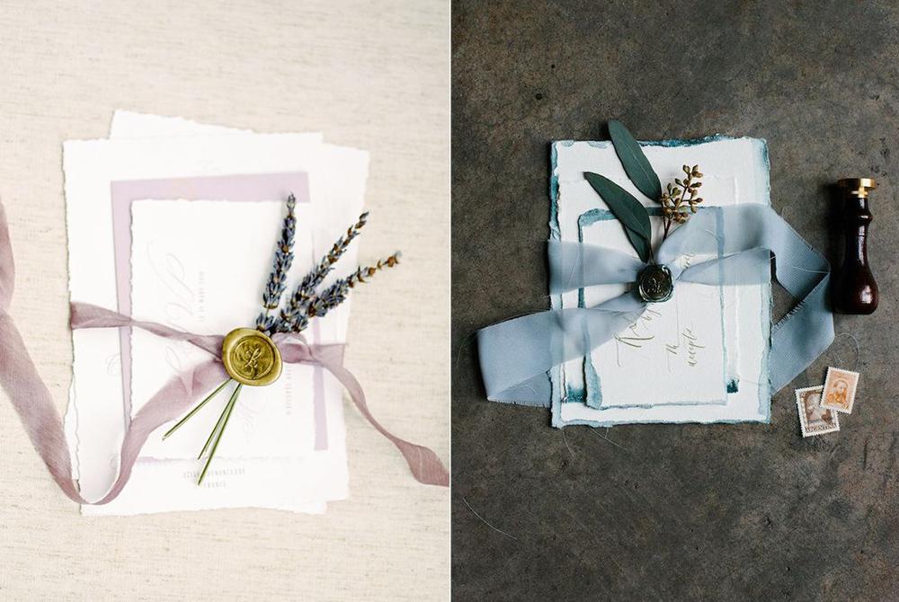 Invitaciones:  Art + Alexander  y  Elsa Madeleine Design .