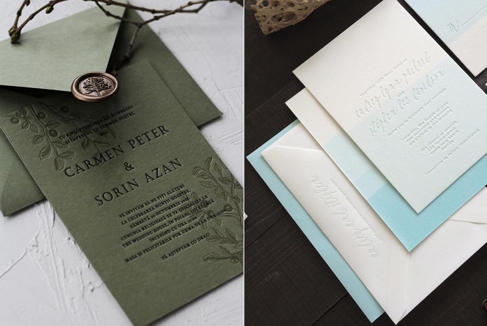 Invitaciones: Papira y  Swell Press Paper Co.