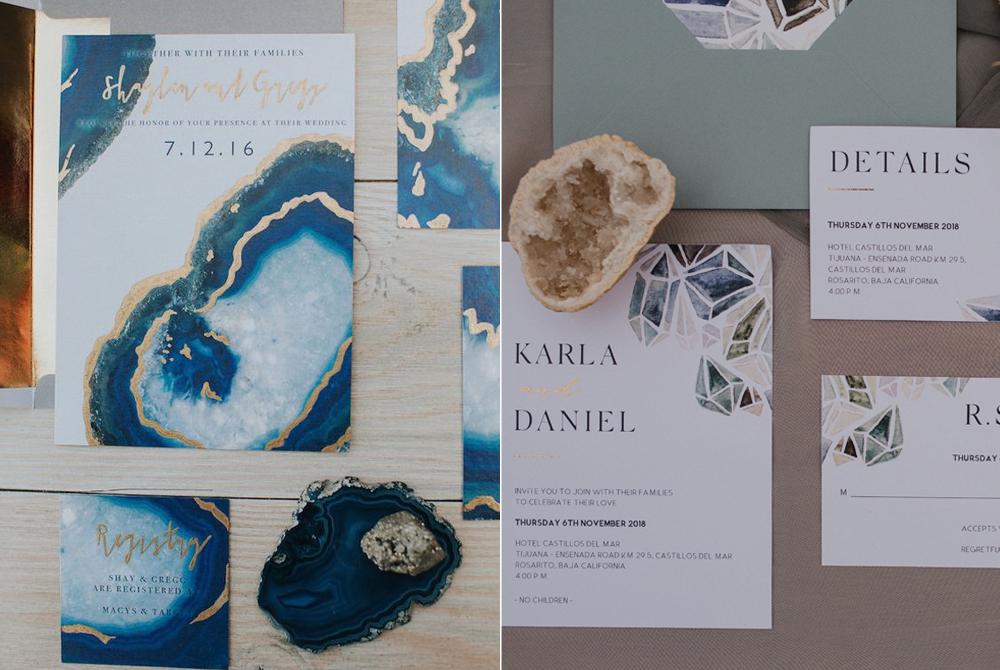 Invitaciones:  White House Design  y  Watercolor Beat