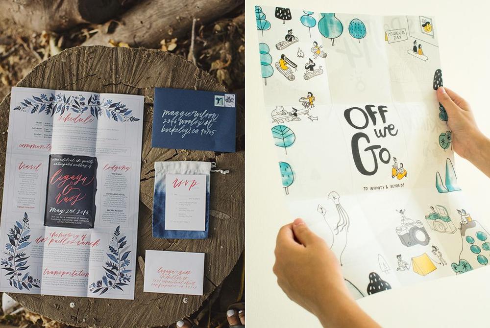 Invitaciones:  Brown Paper Design  y  X Spots the Mark .