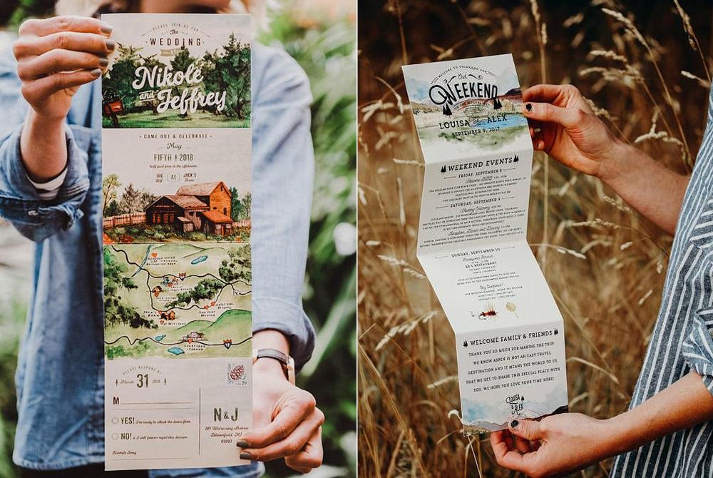 Invitaciones:  Wide Eyes Paper Co.