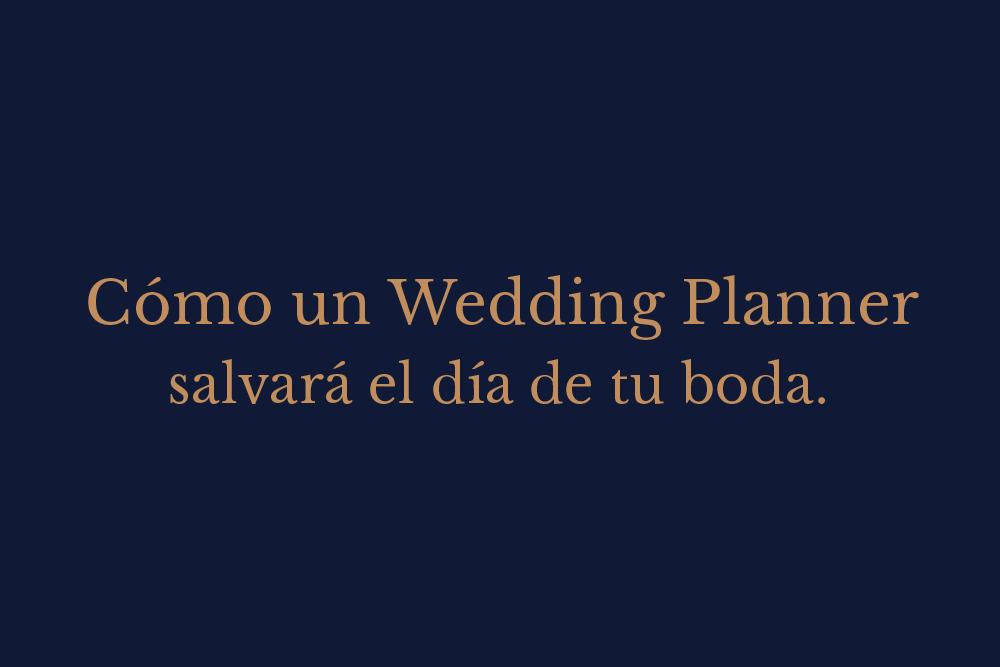 por qué contratar wedding planner