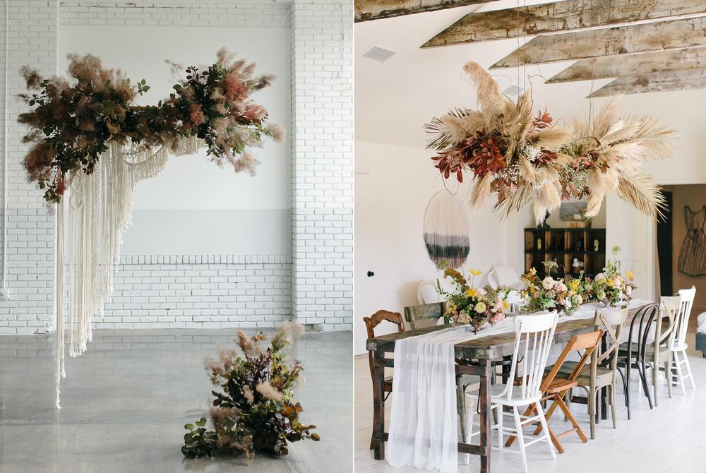 Fotos:  Sarah Ascanio  y  Hannah Haston  / Diseño floral:  Sister Honey Floral Co  y  Davy Gray