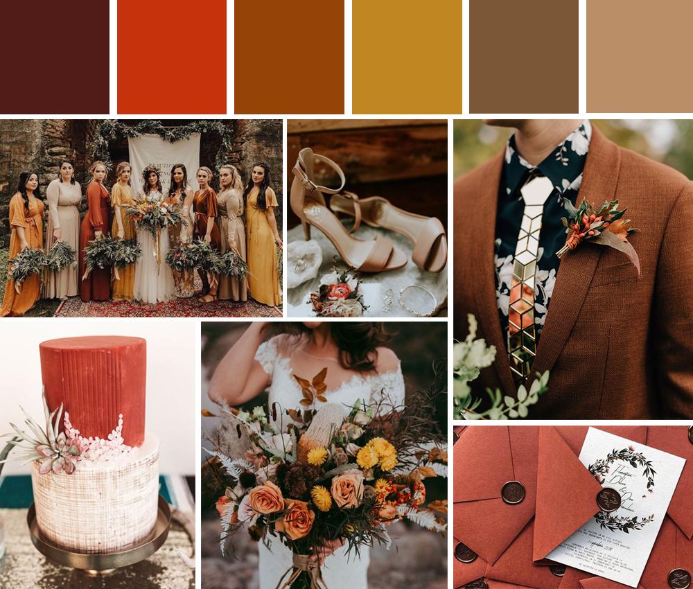 paletas de colores bodas