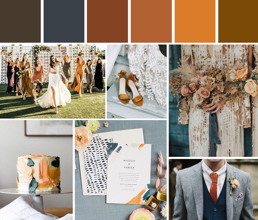 paletas de colores para boda