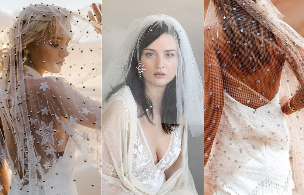 Foto:  Madly Studio  Velo:  Rue De Seine Bridal  / Foto:  Elizabeth Messina  Velo:  Twigs & Honey  / Foto:  Madly Studio  Velo:  Rue De Seine Bridal