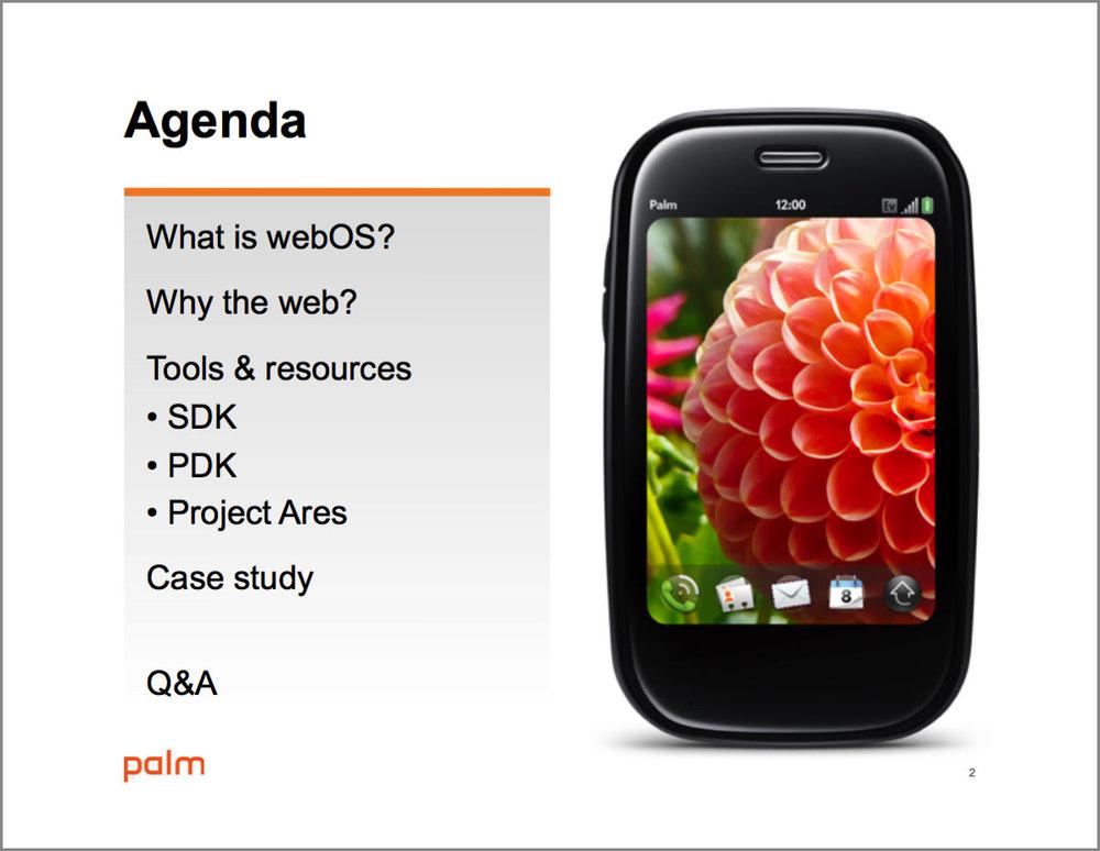 HP webOS application development presentation