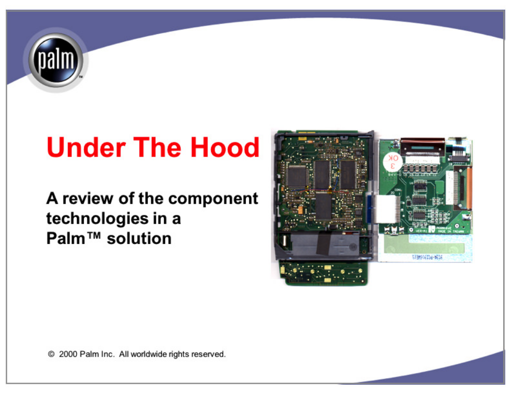 Under The Hood  Palm Computing