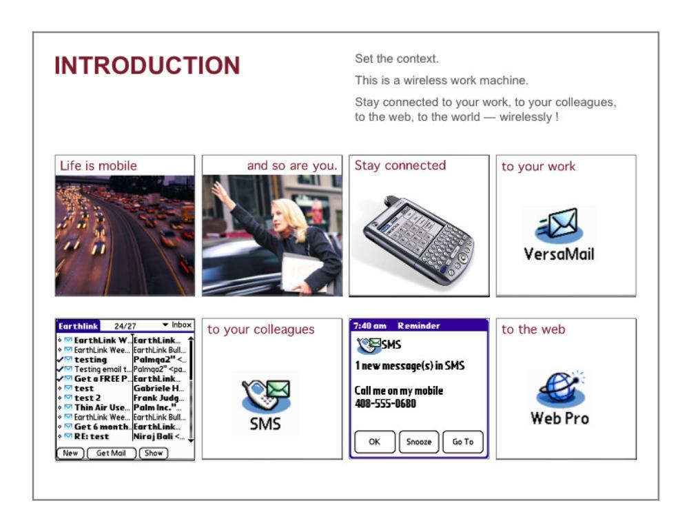 Tungsten W point-of-sale demo  Palm Computing