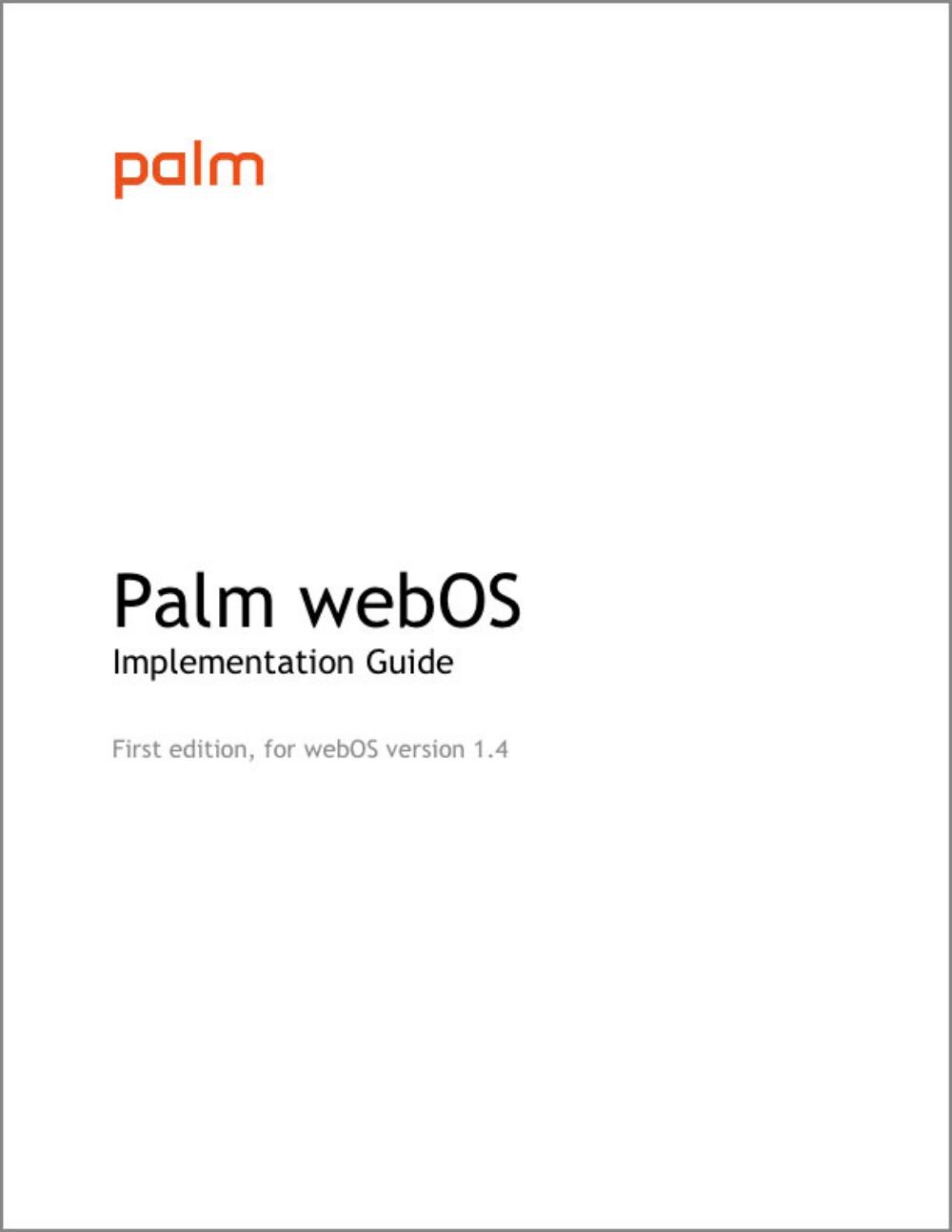 Palm webOS Implementation Guide  Hewlett-Packard