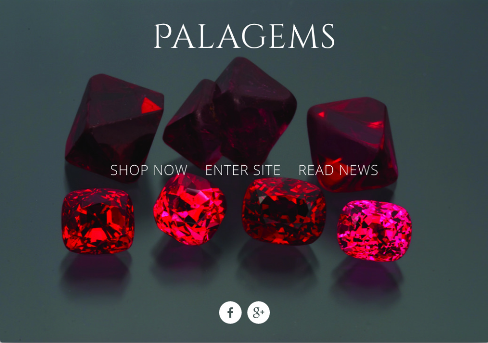 Palagems  colored gemstone wholesaler   Squarespace front-end with PHP ecommerce back-end
