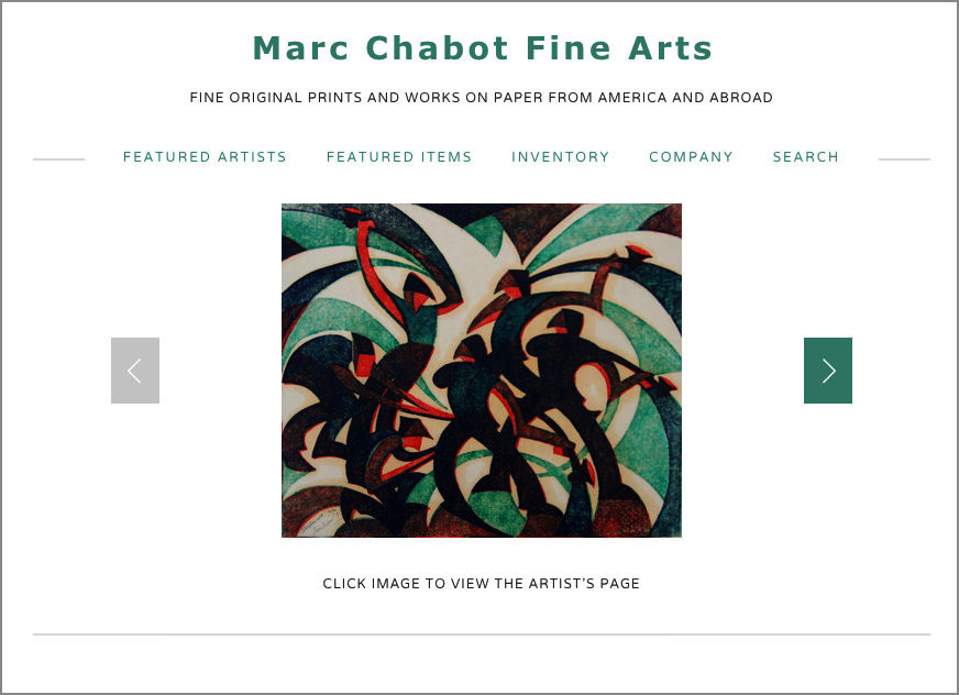 Marc Chabot Fine Arts  print dealer   Squarespace with custom CSS
