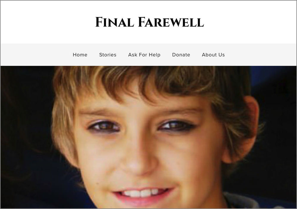 Final Farewell  charity   Squarespace with custom CSS