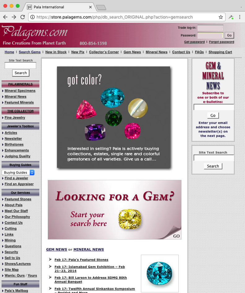 Previous home page had complex top, side, and bottom menus with one long scrolling strip in the middle column.   Click image to magnify.    Click  HERE  to open an archival copy of the previous site. Most links redirect to the new site.