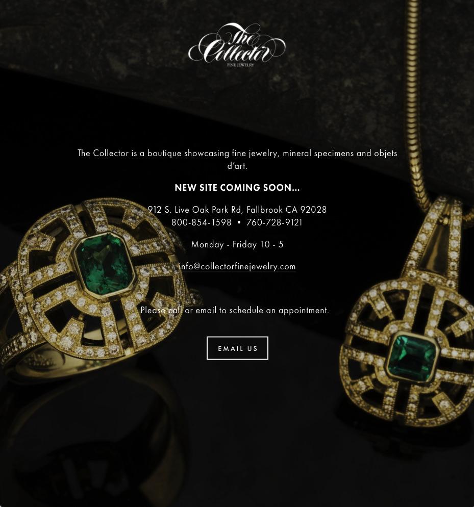 Collector Fine Jewelry splash page