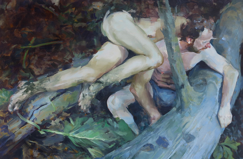 "Forage, 2016 Oil on canvas, 40"" x 60"""