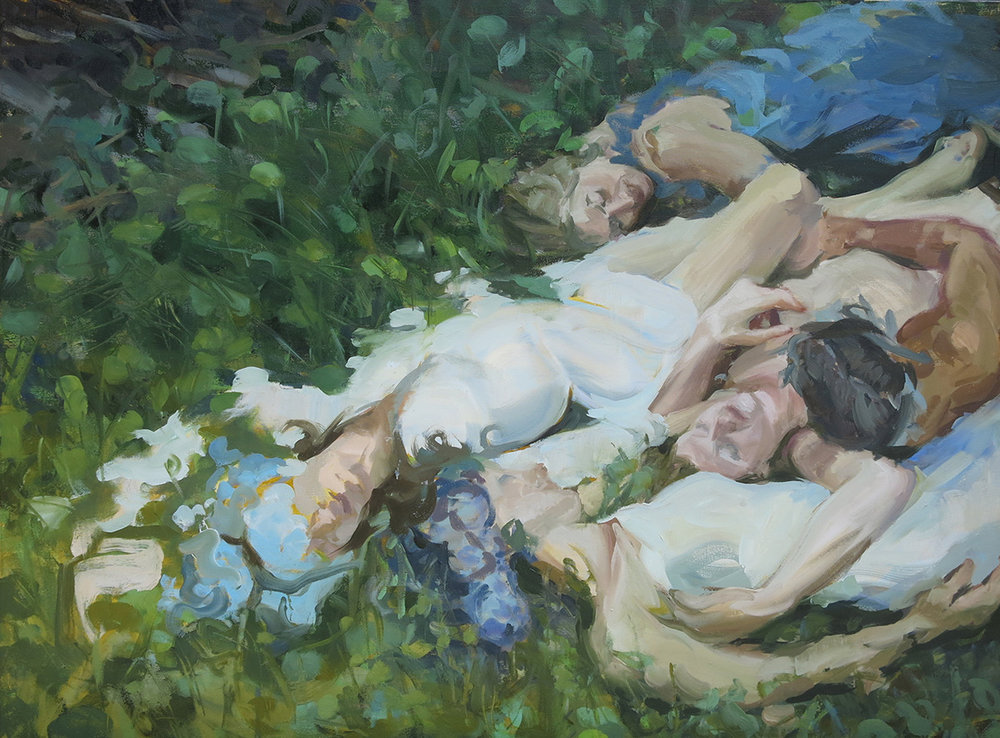"Amanda Scuglia, Transference, 2017 Oil on canvas, 30"" x 40"""