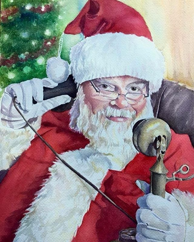 Merry Christmas Eve! 🎄🎅🏻 My favorite day of the year. My new home is sparkling, the tree is glowing, the fire is burning, and I'm excited to spend the day with my family and friends. I wish you all a joyous holiday! . . Santa Chuck, painted 2016. Commissioned. . . #art #artist #artlife #artoninstagram #create #createart #supportart #supportartists #painting #watercolor #smallartist #instaart #fineart #artistsoninstagram #proartists #instaartexplorer #aquarelle #watercolorist #watercolorlove #watercolor_art #watercolorartist #watercolorpainting #contemporaryart #worksonpaper #watercolorart #watercolorillustration #watercolorstudy #santapainting #merrychristmasart #santaclauseiscomingtotown