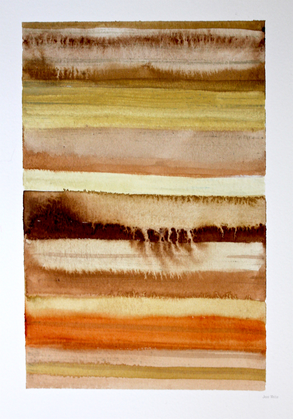 Strata |   G ouache on paper, 2015