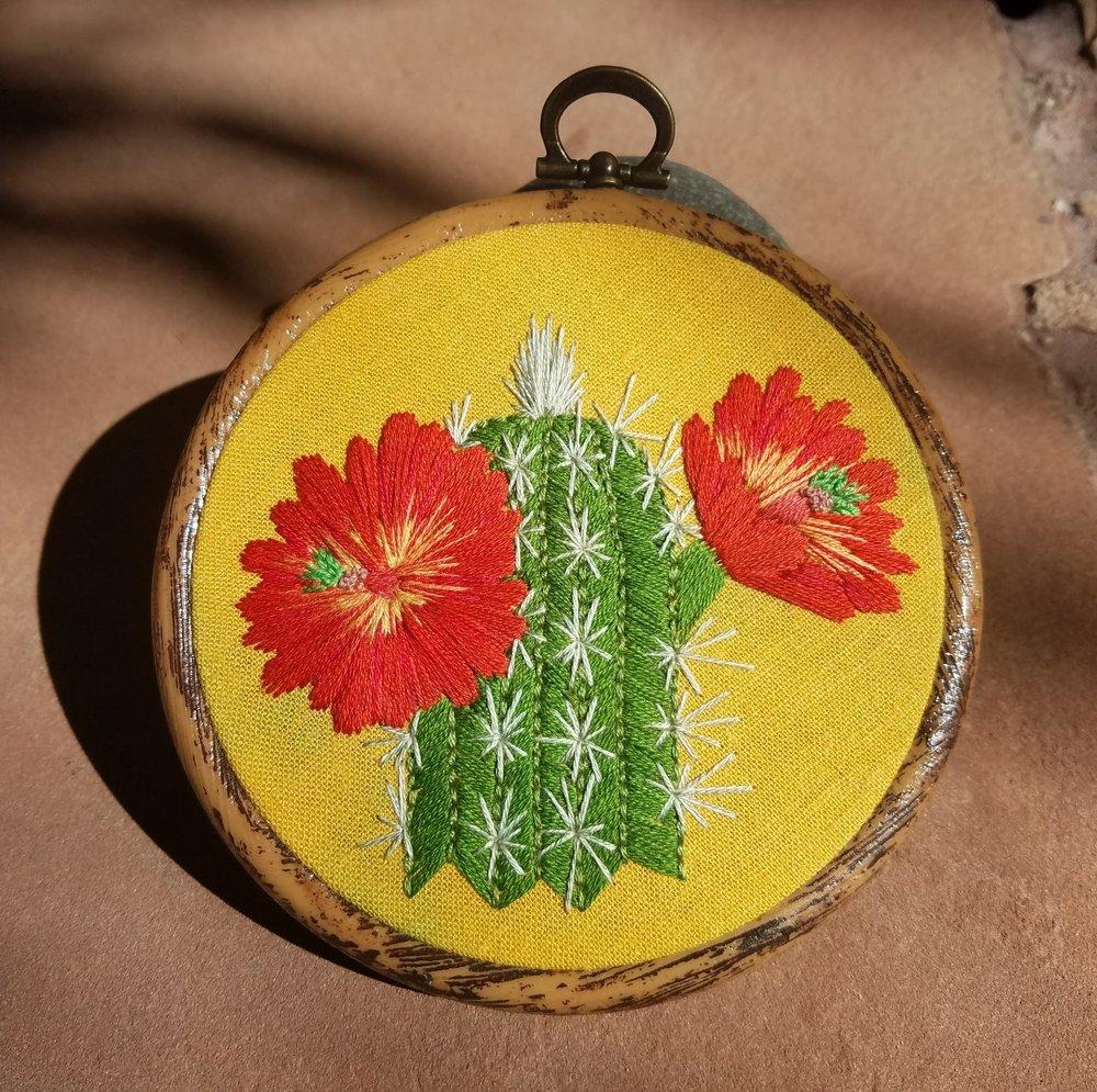 Claret cup cactus,  Echinocereus coccineus