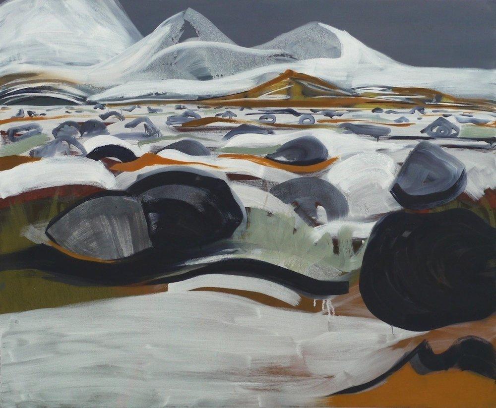 Flow , oil on canvas, 90 x 110cm, 2013