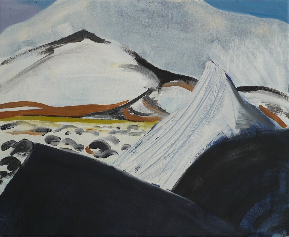 Heading East , oil on canvas, 45 x 55cm, 2013