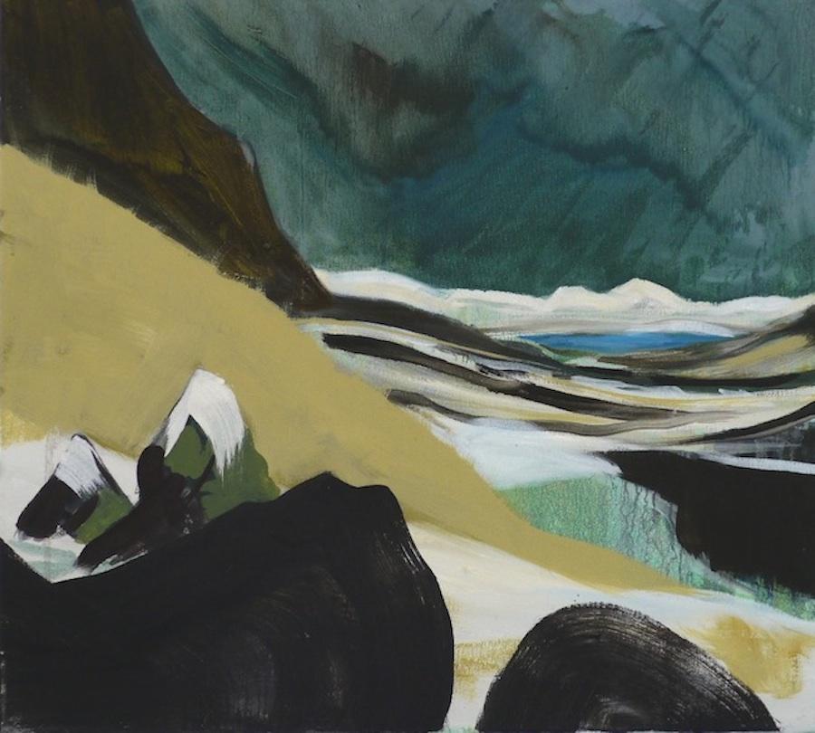 On Esja , oil on canvas, 45 x 55cm, 2013