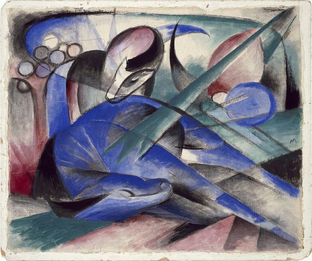 Franz Marc,  Träumendes Pferd  ( Dreaming Horse),  1913