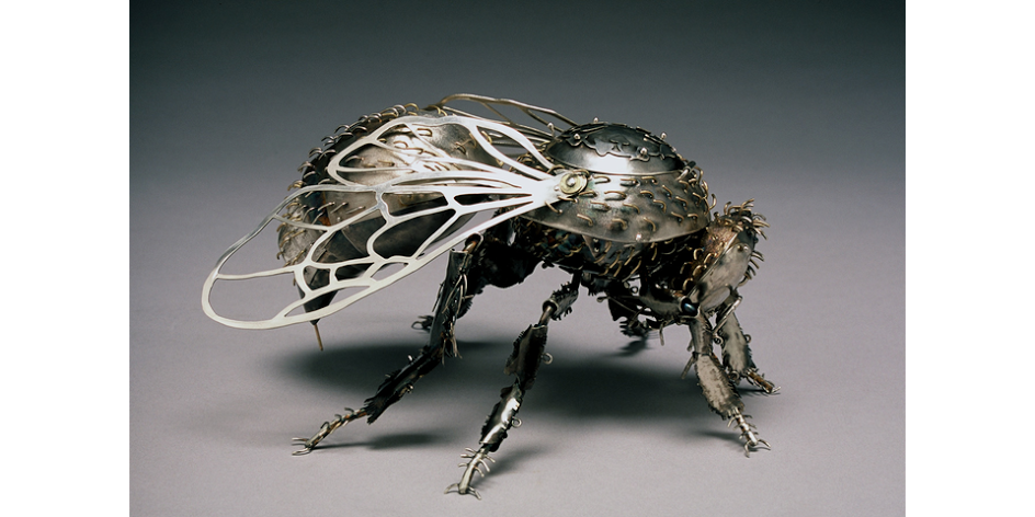 Elizabeth Goluch,  Bumblebee . Sterling silver, 14K and 16K gold, 7x7x4 inches. From the collection of David Weishuhn, Toronto, Canada.