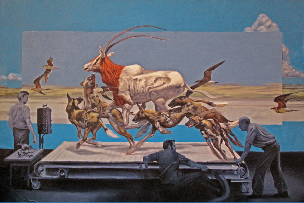 Treadmill | KERRY R. THOMPSON  Oil on canvas, 48 x 72 in., 2014