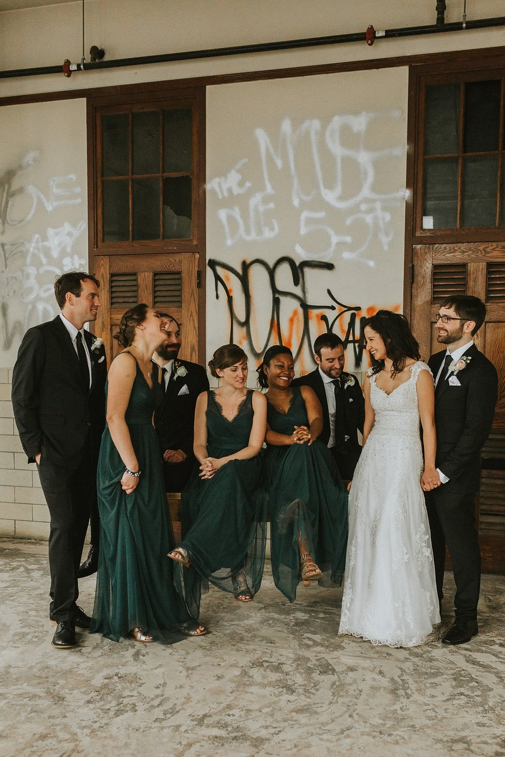 Bridal Party Portraits for wedding in Philadelphia Pennsylvania at Old St. Mary's Church and Building BOK