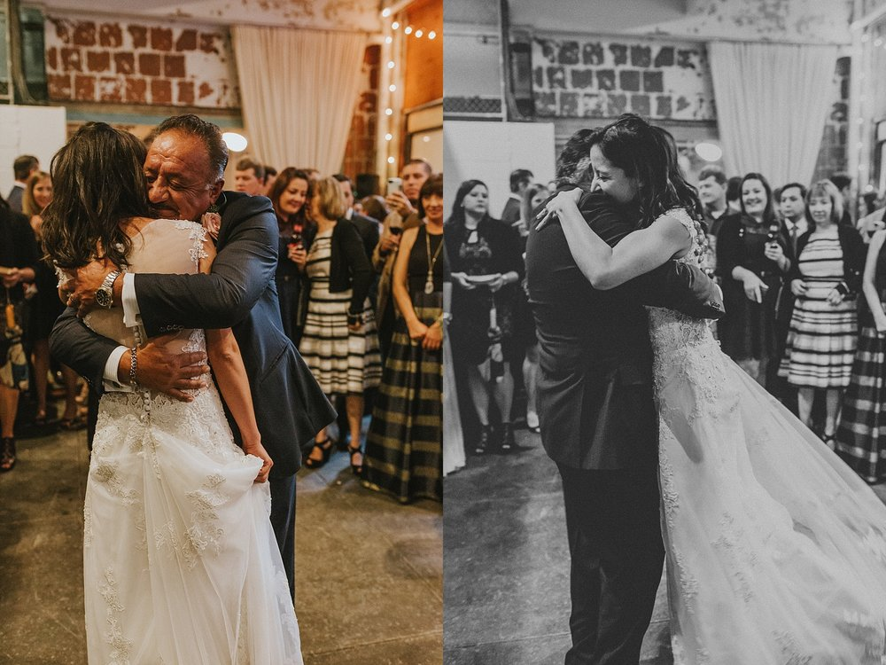 Father and Daughter Dance for wedding in Philadelphia Pennsylvania at Old St. Mary's Church and Building BOK