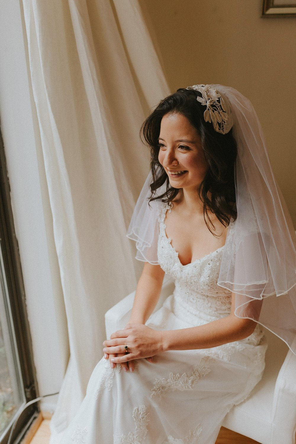 Bridal Portraits for wedding in Philadelphia Pennsylvania at Old St. Mary's Church and Building BOK