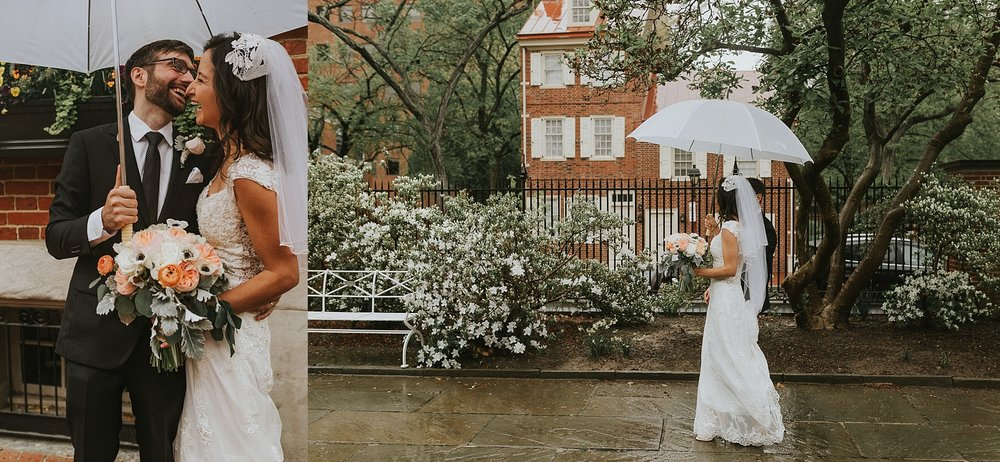 Bride and Groom Portraits for wedding in Philadelphia Pennsylvania at Old St. Mary's Church and Building BOK