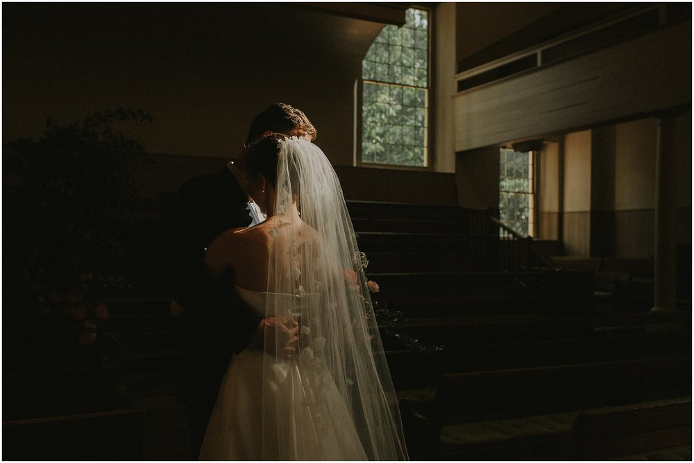Bride and Groom Portraits at Arch Street Meeting House in Philadelphia Pennsylvania